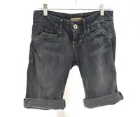 William Rast Lisa Long Bermuda Jean Shorts Denim Stretch Blue Sz 25