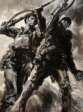 ART PRINT POSTER PAINTING PORTRAIT WAR WWII SOVIET BRITAIN UNITY GUN NOFL0964
