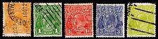 1926-30 Australia #66-68 & 72-73 Kgv Wmk 203 - Used - Fine+ - Cv$12.50 (E#2236)