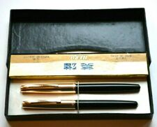 HERO 330 FOUNTAIN & BALLPOINT PEN , F-FINE GOLD PLATED NIB , MADE IN CHINA