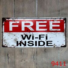 Free Wifi Inside Wall Painting Plaque Vintage Hanging signs Cafe Home Decor sign