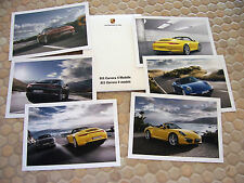 PORSCHE 911 991 C4 C4S COUPE & CABRIOLET POSTCARD SET OF SIX IN GIFT BOX 2013