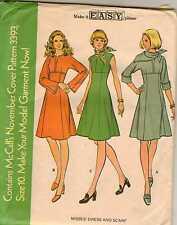 Vintage 1970's Misses EZ Raised Waist Dress Pattern UNCUT McCall's 3393 Size 10