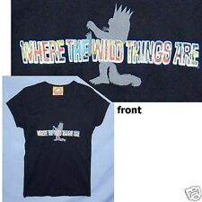Where The Wild Things Are Girls Juniors Black T Shirt Xl New Official