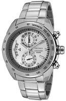 Seiko SNN177 SNN177P1 Men's Stainless Steel Silver Dial Chronograph Watch
