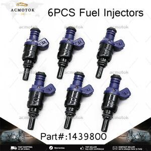 Set of 6 Fuel Injectors 1439800 For 2001-2005 BMW 330i 330Xi 530i 3.0L L6