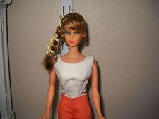 Pretty Vintage Brunette Talkiing Barbie (on TNT body) w/cute vintage pak clothes