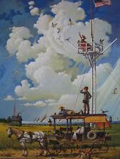 "Charles Wysocki ""Young Hearts at Sea"" #705/1500 Americana Cape Cod Horse Wagon"