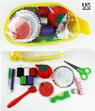 Sewing Kit Measure Scissor Thimble Thread Needle Storage Bag Travel Set Pack