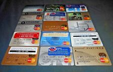 15 expired vintage Mastercard credit card lot for collectors used & unused NM-M