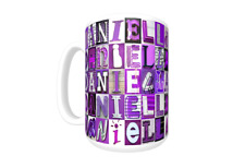 DANIELLA Coffee Mug / Cup featuring the name in photos of PURPLE sign letters