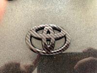 Carbon fibre Steering Wheel Emblem Overlay Toyota (Tacoma Tundra 4Runne) OEM
