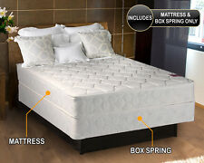 """Legacy King size 76""""x80""""x8"""" Mattress and Box Spring Set - Single sided none flip"""