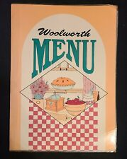 Vintage Woolworth Menu. excellent condition, not sure of year.