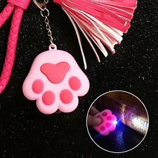 Pink Cat Paw Pendant LED Light Key Chain With Sound Keyring Keychain Gift Toy