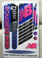Cricket Bat Stickers Embossed - New Balance combo