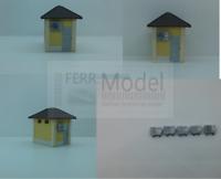 FERRMODEL 160 - Set climatizzatori / condizionatori per stazione FS Scala H0, 5p