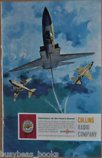 1961 COLLINS RADIO advert, US Navy Grumman A2F North American A3J McDonnell F4H