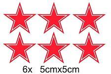 6x RUSSIE Forces aériennes RUSSE Étoile rouge Autocollant Voiture URSS Fonte