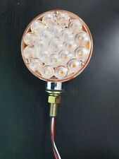12 Volt Round 1 Post LED Indicator Light Clear/Amber to suit WS,Kenworth or Mack