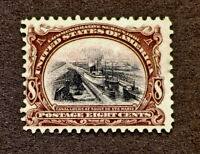 Scott US # 298 - 1901 Pan-American Issue, 8 Cents; Mint Hinged; OG;CV=$90