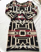 Ralph Lauren Denim Supply Womens Sweater Dress  Mini Geometric Size Small