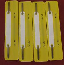 100 gelbe Heftstreifen Abheftstreifen Heftlaschen gelb Ordner farbig abheften