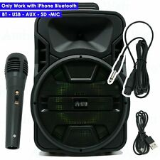 "12"" Professional Powered Active 1200W DJ PA Speaker Bluetooth  W/ IPHONE ONLY"
