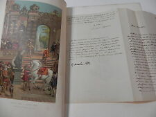 PAUL LACROIX XVIIe INSTITUTIONS USAGES COSTUMES 1880 + COURRIER MANUSCRIPT SIGNE