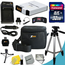 Xtech Kit for Nikon Coolpix S1100pj w/ 32GB Memory + BT/CH +Tripod + Case + MORE