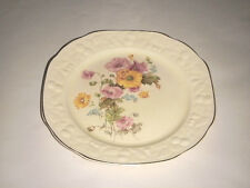"""PANTRY BAK-IN 9"""" PLATE BY WARE CROOKSVILLE 240 CHINA FLORAL PINK ORANGE MUMS"""