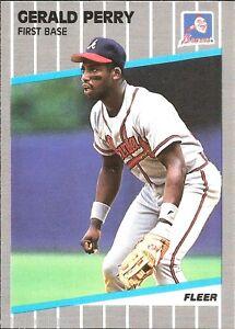⚾️ 1989 ~ Fleer #597 ~ Gerald Perry ~ Atlanta Braves ~ NmMt=8