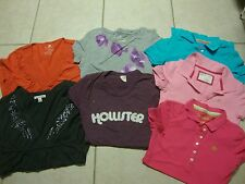 19 juniors HOLLISTER, AEROPOSTALE, AMERICAN EAGLE, A&F tank tops & shirts , S