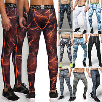 Men Gym Fitness Leggings Compression Sports Workout Running Skin Pants Trousers
