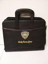 HARLEY DAVIDSON Primary Officer Training HOG Leather Portfolio Briefcase