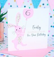 Personalised Handmade Girl Birthday Card 1st,2nd,3rd,4th,5th,6th,Niece,Daughter