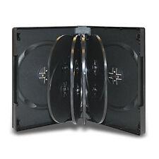 33mm Black Multi 10 Disc DVD Cases CD Storage Holds Ten Wholesale Lot