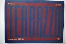 Terrazzo Architecture Design Magazine Sottsass Number 1 Post modern Memphis 80s