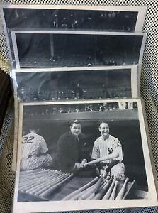 Vintage NY Baseball Teams 11 x 14 Photo Lot Dodgers Yankees Giants 1920's - 40's