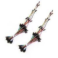New 65PCS Multicolor Solderless Breadboard Test Jumper Experiment Cable Wire Kit