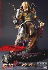 """Hot Toys SAMURAI Alien vs Predator AVP 14"""" 1/6 Scale Sideshow NEW FACTORY SEALED"""