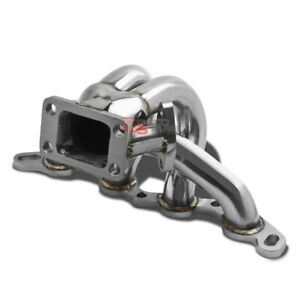 FOR 85-89 MR2/91 COROLLA AE86 4AGE T3 STAINLESS STEEL TURBO MANIFOLD EXHAUST KIT
