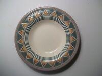 "4 Peru 9 1/4"" Soup/Cereal  Bowls  1 1/4"" Rim  Gold/Turquoise  Hornsea England"