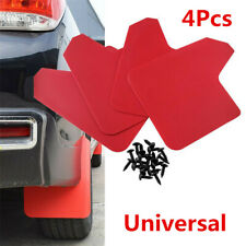 1 Set Red Auto Car Front Rear Mudflaps Splash Guard Fender Protector + Screws