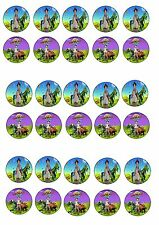 ANDY'S DINOSAUR ADVENTURE EDIBLE RICE WAFER PAPER CUP CAKE TOPPER X30