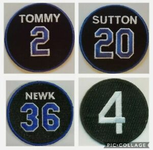 (4) Los Angeles Dodgers Memorial Jersey Patch - TOMMY SUTTON NEWK SNIDER