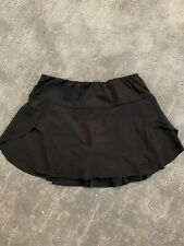 Womens Lucky In Love Laser Pulse Tennis Skirt Black Size Xs