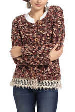 NEW Anthropologie size M Lace Trim Marled Cardigan by Sleeping on Snow