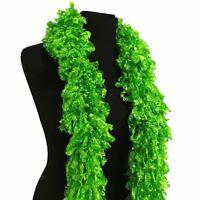 Luxurious Green Featherless Boa, 1920's Flapper, Burlesque, Gatsby Style