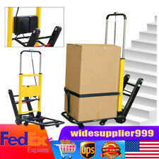 Electric Stair Climbing Hand Truck Folding Utility Carts 440lb Max Load US Stock